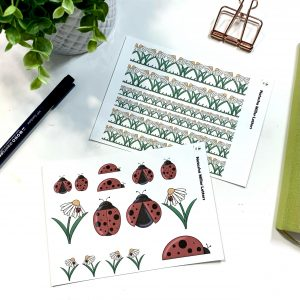 Ladybugs and Daisy Stickers