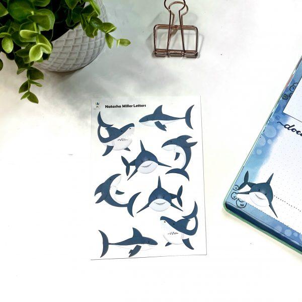 Shark Fest Shark Stickers