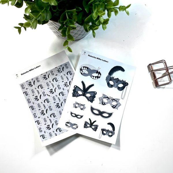 Masquerade Ball Sticker Sets